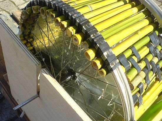 Стиральная машина из бамбука и шин