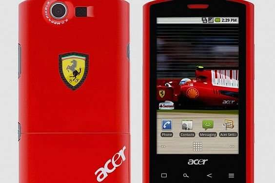 Acer выпустил телефон в стиле Ferrari